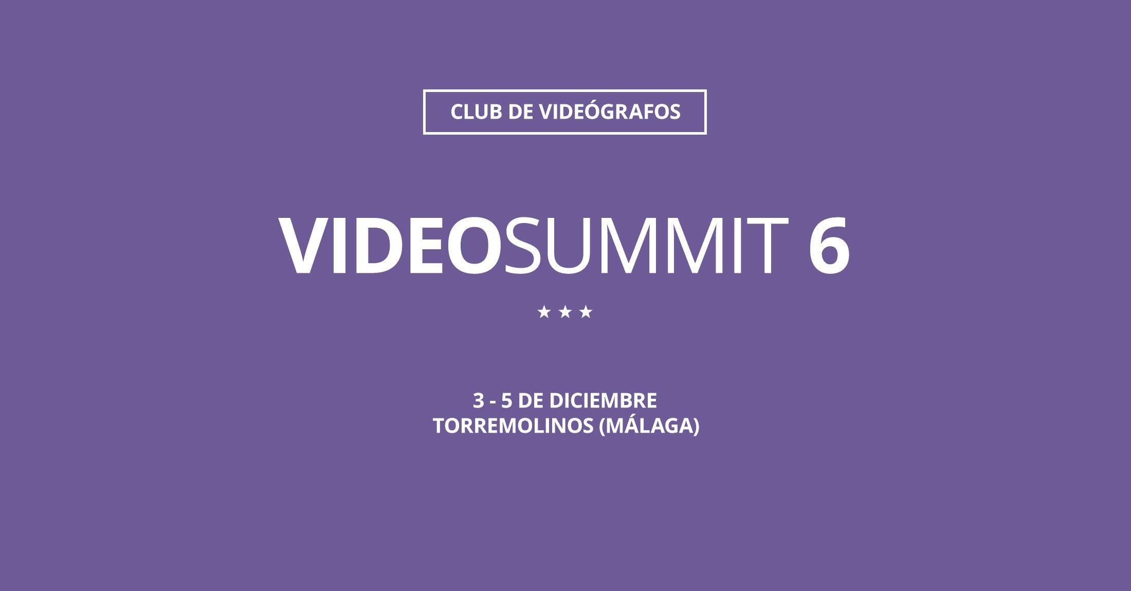VideoSUMMIT 6 - cartel oficial
